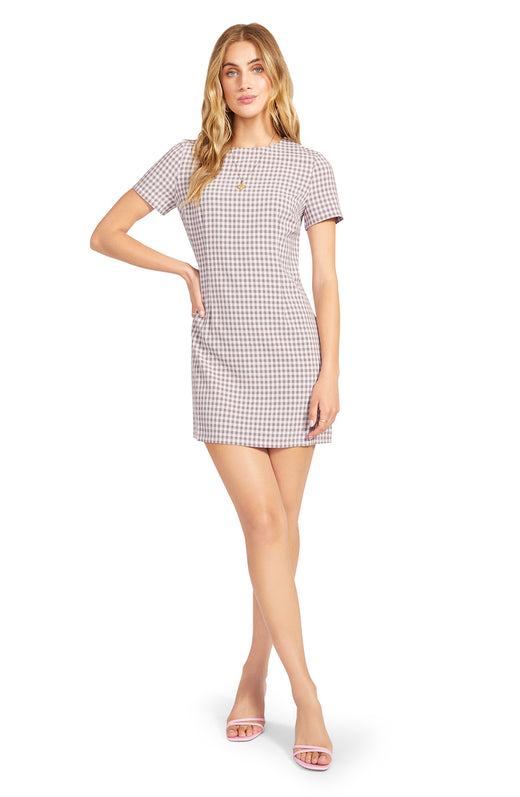 Checked Out Shift Dress