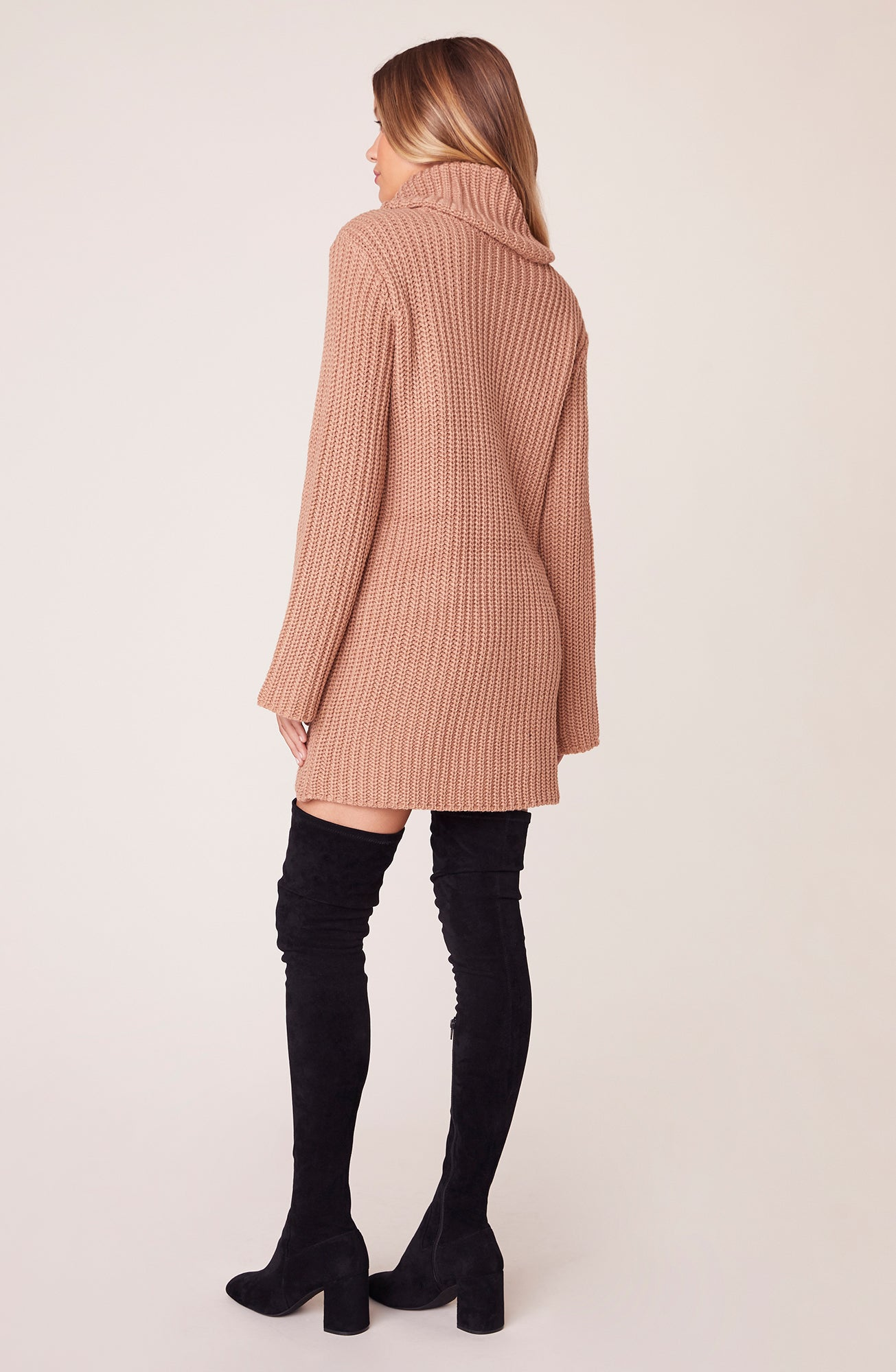 Couldn't Be Sweater Cowl Neck Sweater Dress | BB Dakota