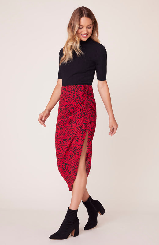 Ruched Awakening Midi Skirt
