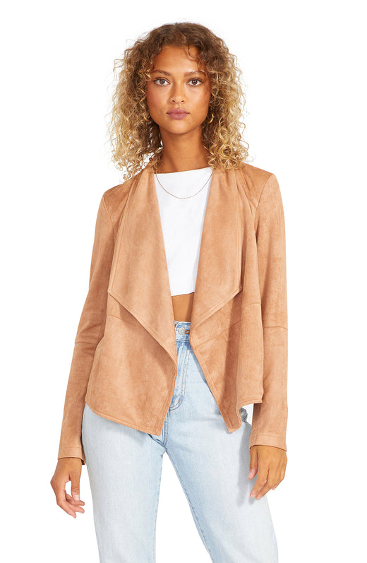 Suede It Out Faux Suede Jacket