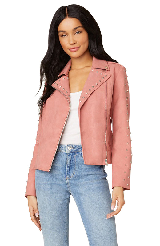True Stud Vegan Leather Jacket
