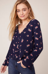 In Bloom Floral Printed Top