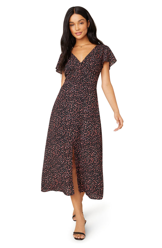 Heavy Petals Midi Dress