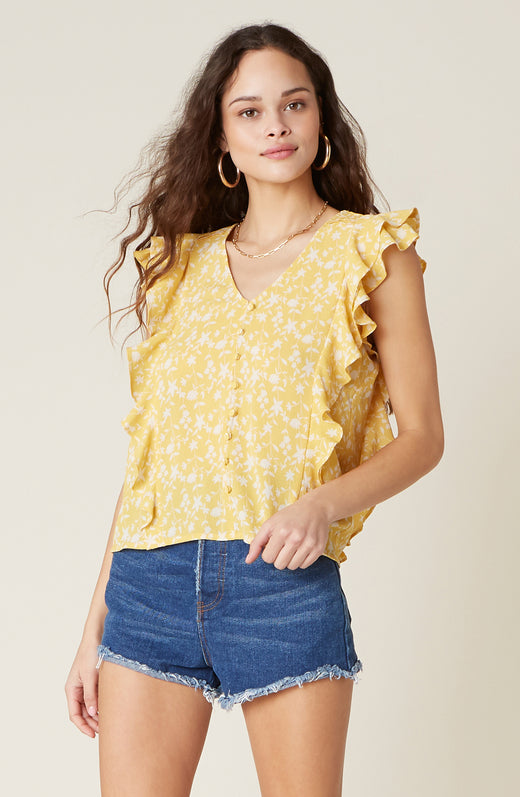 All The Frills Short Sleeve Top