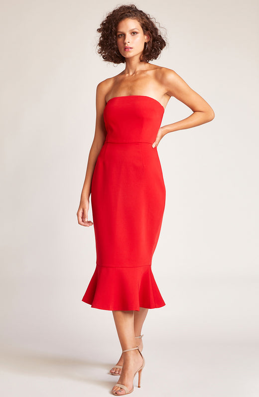 Light My Fire Strapless Dress