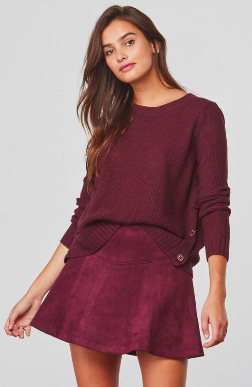 Rita Side Buttoned Sweater