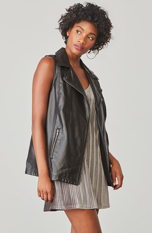 Alvis Vegan Leather Vest