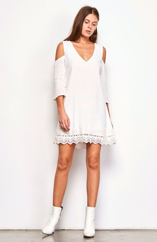 Stefani Scalloped Hem Dress