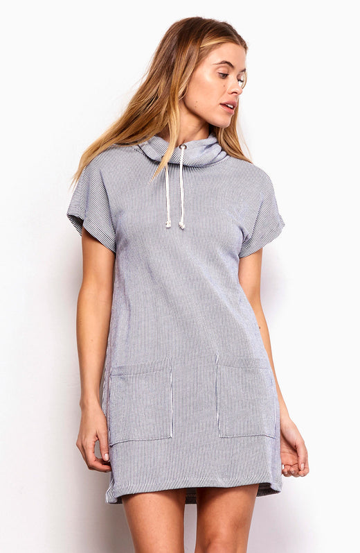 Janella Drawstring Collar Dress