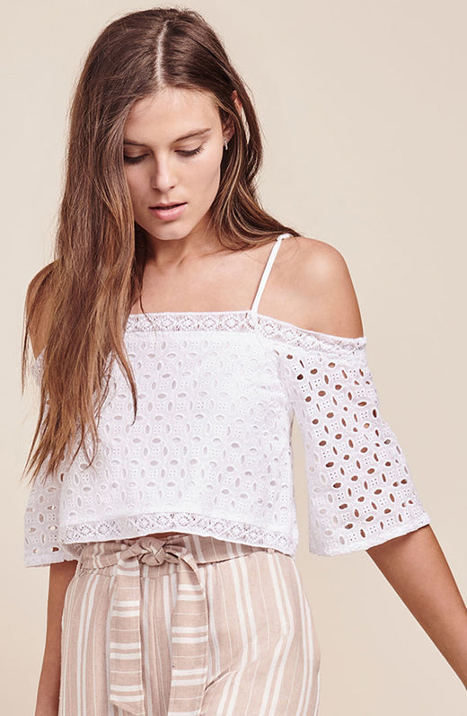 Laina Eyelet Crop Top