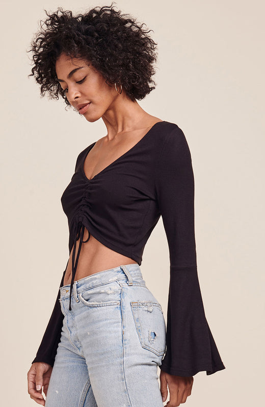 Leia Rouched Front Top