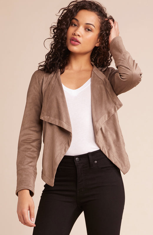 Big City Nights Drape Front Jacket