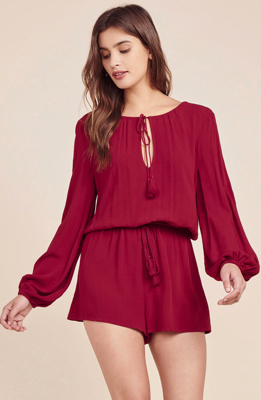 On A Mission Tassel Tie Romper