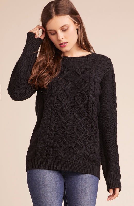Wanna Spoon Cable Knit Sweater