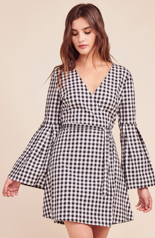 Alter Ego Bell Sleeve Wrap Dress