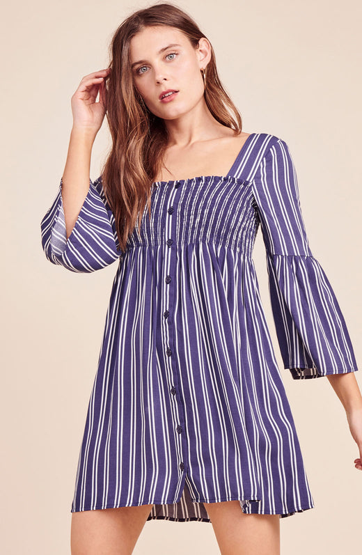 Call The Shots Striped Dress