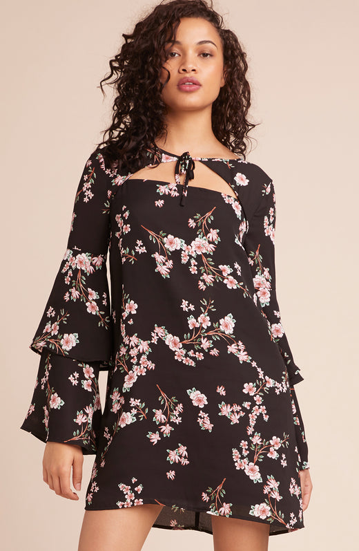 Midnight Garden Printed Dress