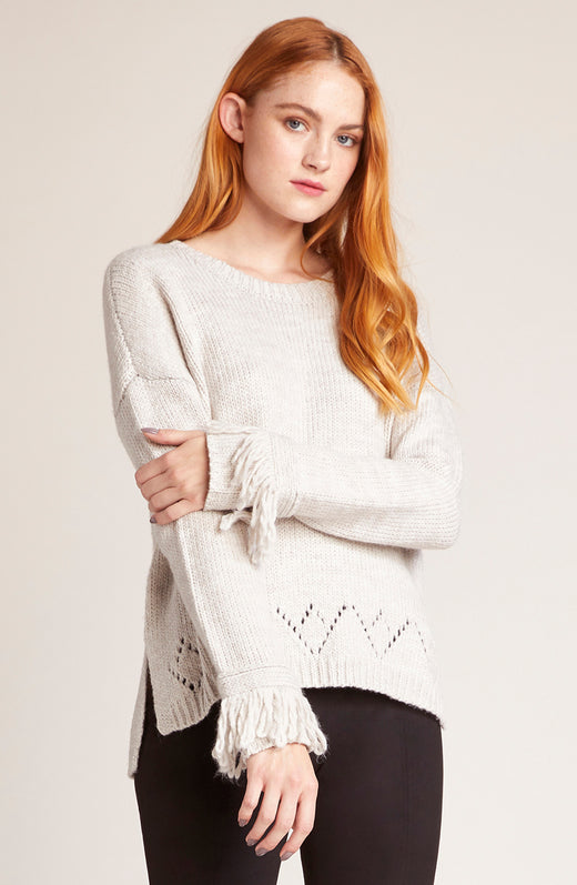 d1432950614 Flick Of The Wrist Fringe Sweater