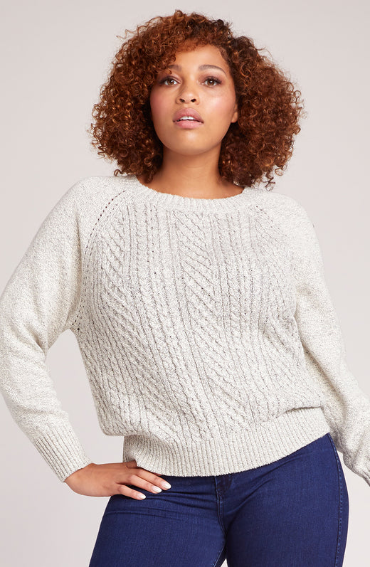 d2d5dda2d3e03 Secret Bow-Mance Cable Knit Sweater