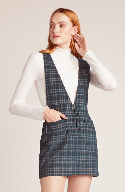 Plaid Influence Plaid Pinafore Skirt