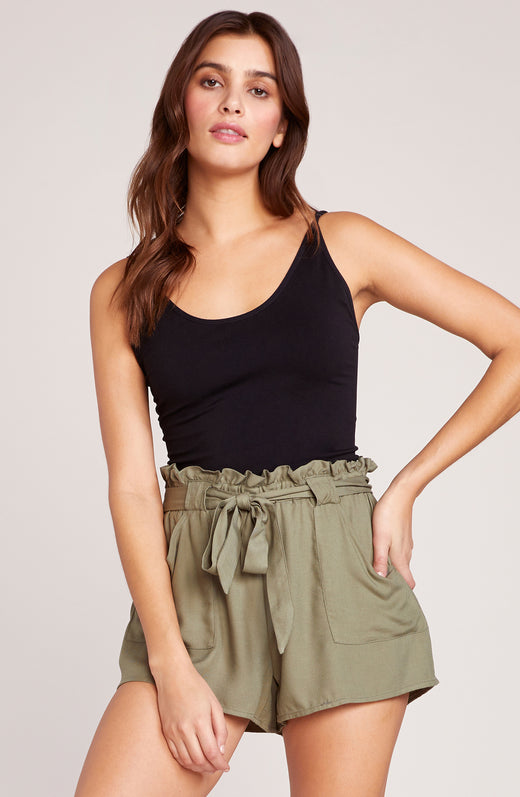 Belt It Out Paper Bag Shorts