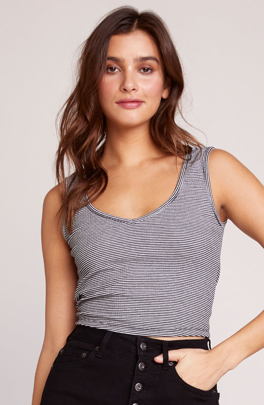 Tie To Keep Up Rib Knit Tank