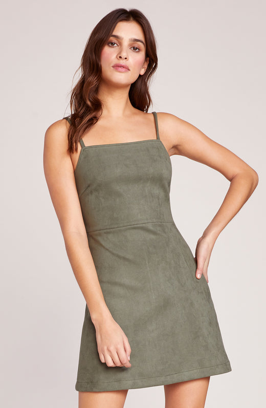 Fair and Square Suede Scuba Dress