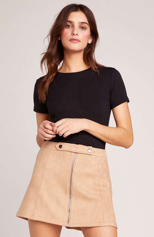 Lady Crush Suede Scuba Skirt