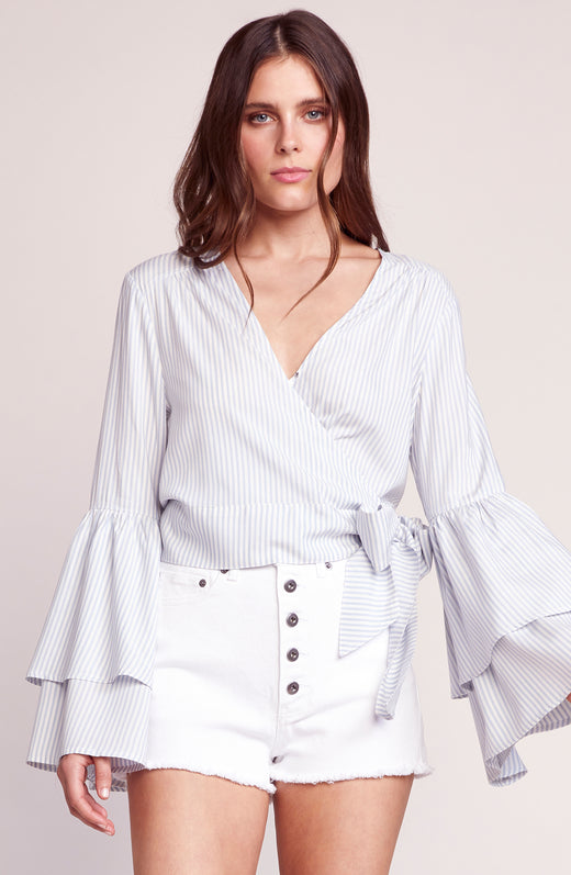 Making Waves Ruffle Sleeve Top