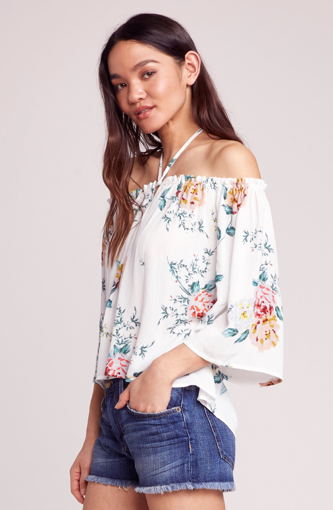7b4795b6c6240c JACK By BB DAKOTA. Say It With Roses Off the Shoulder Top