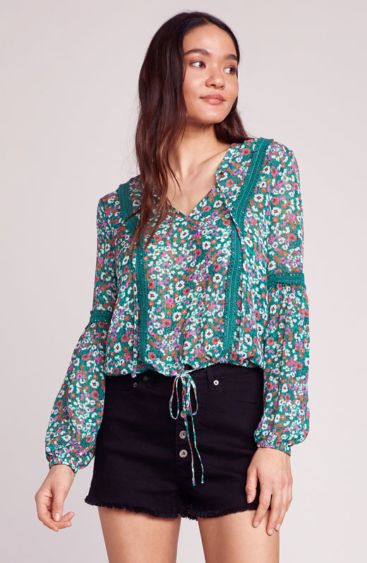 Going to California Printed Blouse