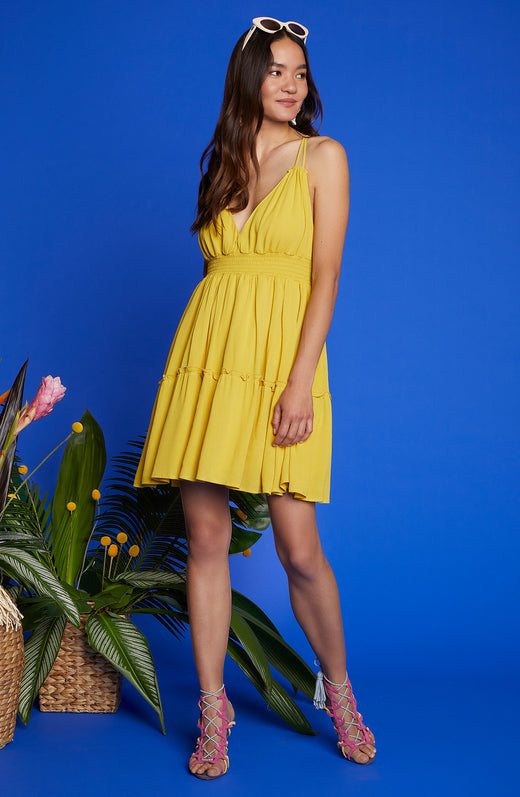 Steal My Sunshine Strap Dress