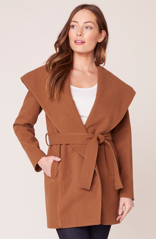 Take Cover Hooded Wrap Coat