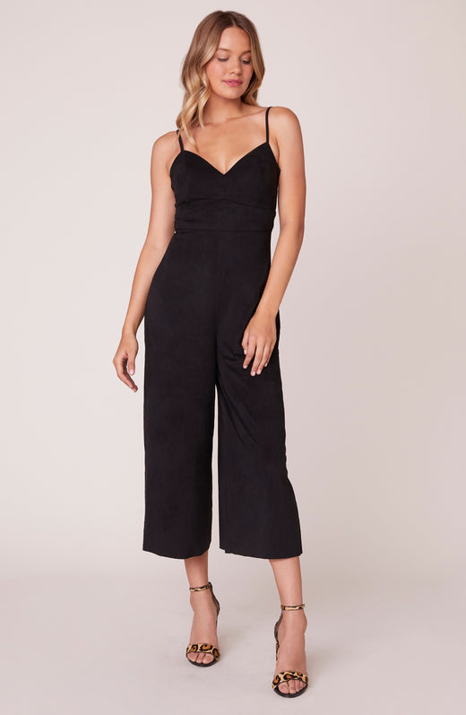 Total Package Faux Suede Jumpsuit