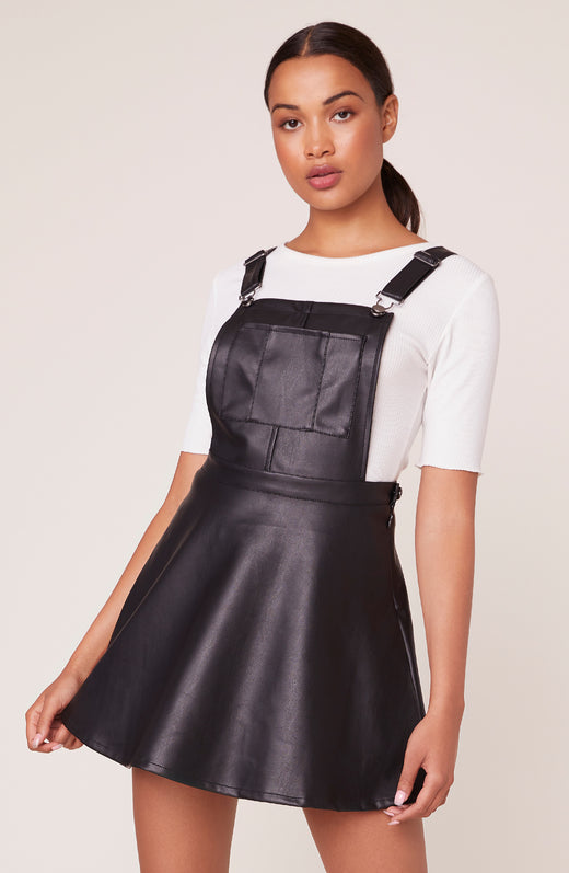 Pinafore Your Love Vegan Leather Dress