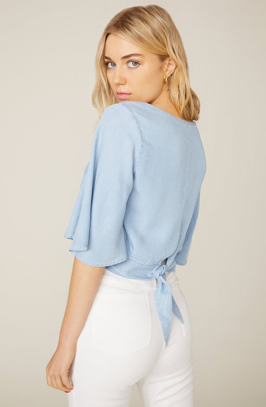 Chambray The Light Tie Back Blouse