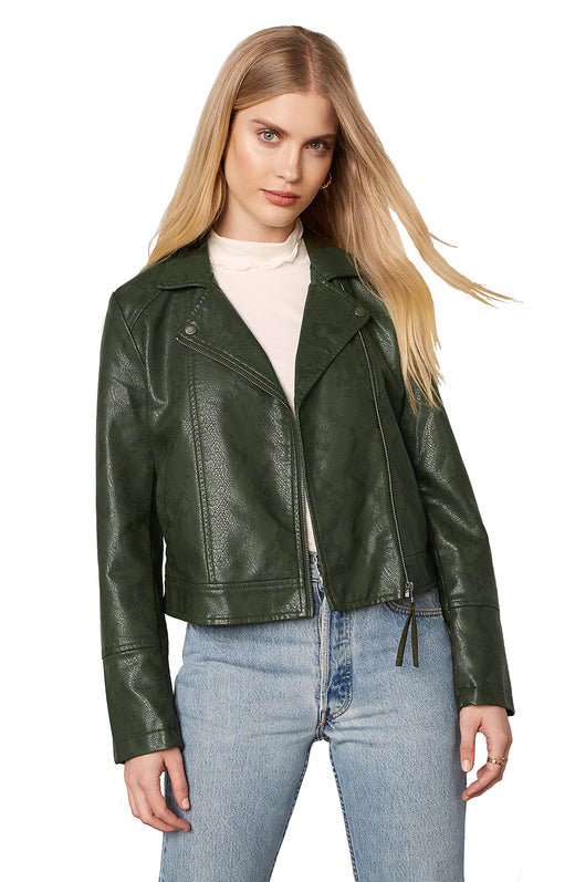 Snake It Or Break It Vegan Leather Jacket