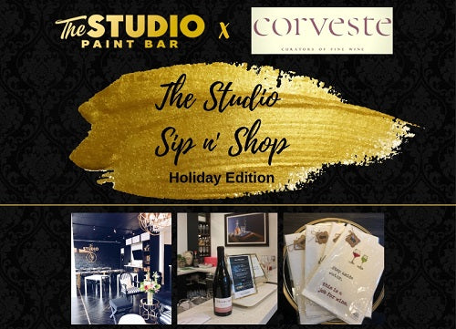 The Studio Sip and Shop...Holiday Edition