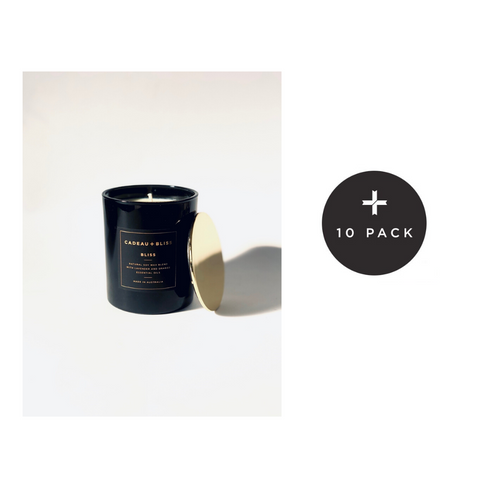 Deluxe branded Candle (White/Black)