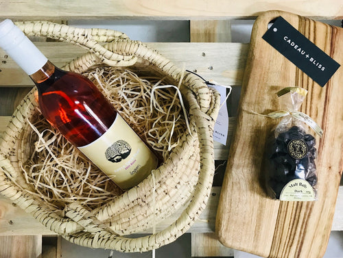 Blissful Rosé Basket - Cadeau + Bliss