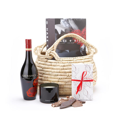 Indulgence Wine and Chocolate Basket
