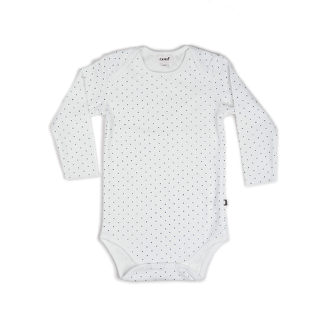 Organic Cotton Jumper - Blue with Hazelnut Grid