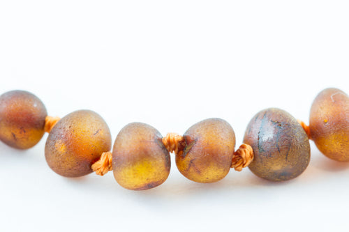 100% Certified Baltic Amber - Raw Cognac