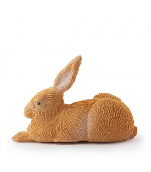 An original design from the sixties, this charming forest rabbit will soon hop first to become your baby's favorite. Go on adventures with Gilbert the Rabbit, inside and outside of your home! Completely safe for kids, worry-free play!