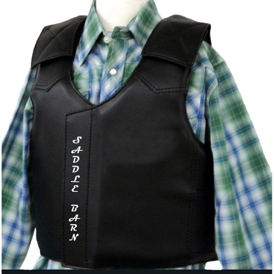SADDLE BARN JUNIOR FAUX LEATHER VEST