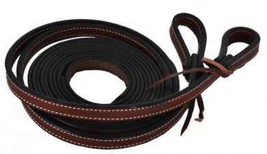 5/8 X 8 FT LEATHER STITCHED SPLIT REINS