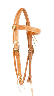STAMPED LEATHER BROWBAND
