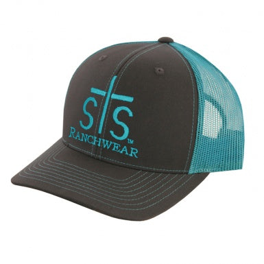 STS TURQUOISE CHARCOAL LOGO CAP