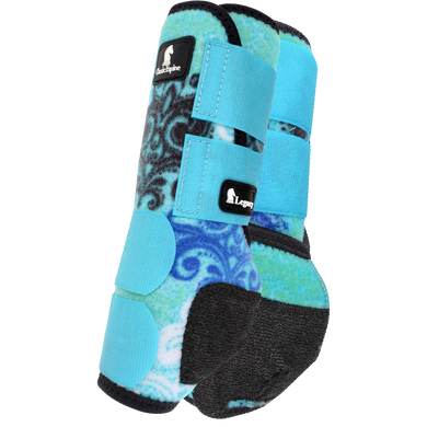 CLASSIC EQUINE FRONT LEGACY BOOT BLUE SCROLL