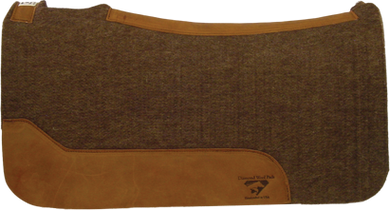DIAMOND WOOL SIERRA GOLD VIRGIN BROWN WOOL SADDLEPAD